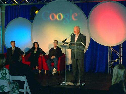 Google Atlanta Eröffnung Jimmy Carter