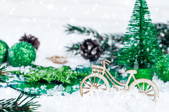 Christmas tree with bike decoration (lyule4ik) Tags: bike decoration tree snow xmas year christmas card wooden glitter traditional design winter background holiday bright vintage ornament unusual shine unique shimmer garland cycle merry twinkle bicycle sport lights bokeh red glittering decor cool holidays culture snowflakes star happy sparkle scene tranquil space miniature string new celebrations claus blur