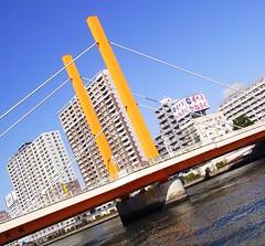 TOKYO SUMIDA RIVER BRIDGE (patrick555666751) Tags: tokyo sumida river bridge bridges ponts pont puente puentes riviere tokyosumidariverbridge nihon nippon cipango jipangu japao giappone japo edo kanto honshu tokio toquio japon japan asie est east asia building buildings brucke