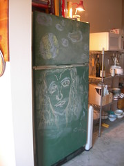 (fooferkitten) Tags: art home me kitchen fridge chalkboard cloud9 salemi