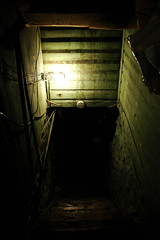 Have you ever seen a Michigan basement? (ilmungo) Tags: thanksgiving wood light black green stairs underground boards wiring glow michigan mendon basement down 2006 spooky wires lowkey depth downstairs blackness musty