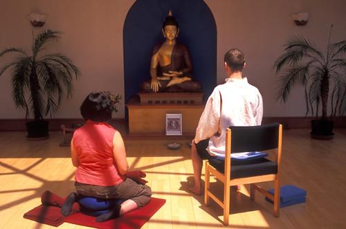Meditating in the main shrine room 2