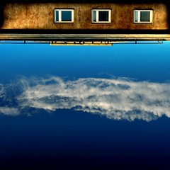 Upstairs (Olli Kekäläinen) Tags: blue orange clouds photoshop suomi finland dark square cool helsinki nikon 2006 100v10f d200 interestingness94 i500 20061215 outstandingshots ok6 ollik