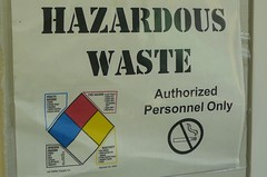 don't smoke near hazardous waste (alist) Tags: lab mit waste hazardous