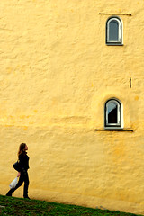Inspiration (Pensiero) Tags: windows woman grass wall walking tallinn estonia portfolio thewall tallin c ilmuro selectedasthebest spselection