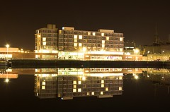 Dundee City Quay -Apex Hotel (Magdalen Green Photography) Tags: longexposure night lights hotel scotland dundee scottish apex cleancut cityquay picturesofdundee dundeephotography imagesofdundee dundeestockphotography printsofdundee