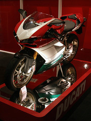 Little Toy (aliusblanditia) Tags: show red color bike expo fast center motorcycle ducati duc liter 1098
