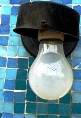 tiled light (Darwin Bell) Tags: blue light bulb tiles fragment 5for2