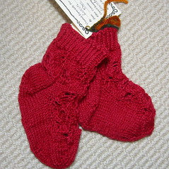 Embossed Leaves Socks, baby version