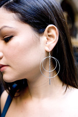 Hoop and Silver Bars Earrings