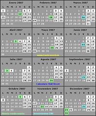 Calendario Wall Street 2007