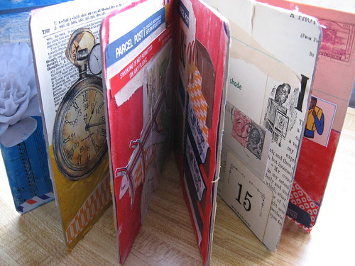 an altered book in progress