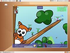 Ubuntu - Wormux game Screenshot