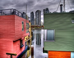 Little Boxes (Stuck in Customs) Tags: homes canada colors vancouver photography nikon photographer granville britishcolumbia d2x granvilleisland hdr skycraper highquality waterbody d2xs stuckincustoms treyratcliff