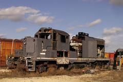 Cannibalized (RedRangerXXIV) Tags: railroad train georgia minolta fave albany locomotive konica dimage z6