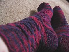 And even more Monkey Socks (kristigeraci) Tags: socks monkey knitting knitty