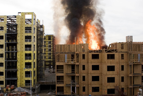 Rivermark construction fire