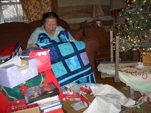 Admiring the Quilt