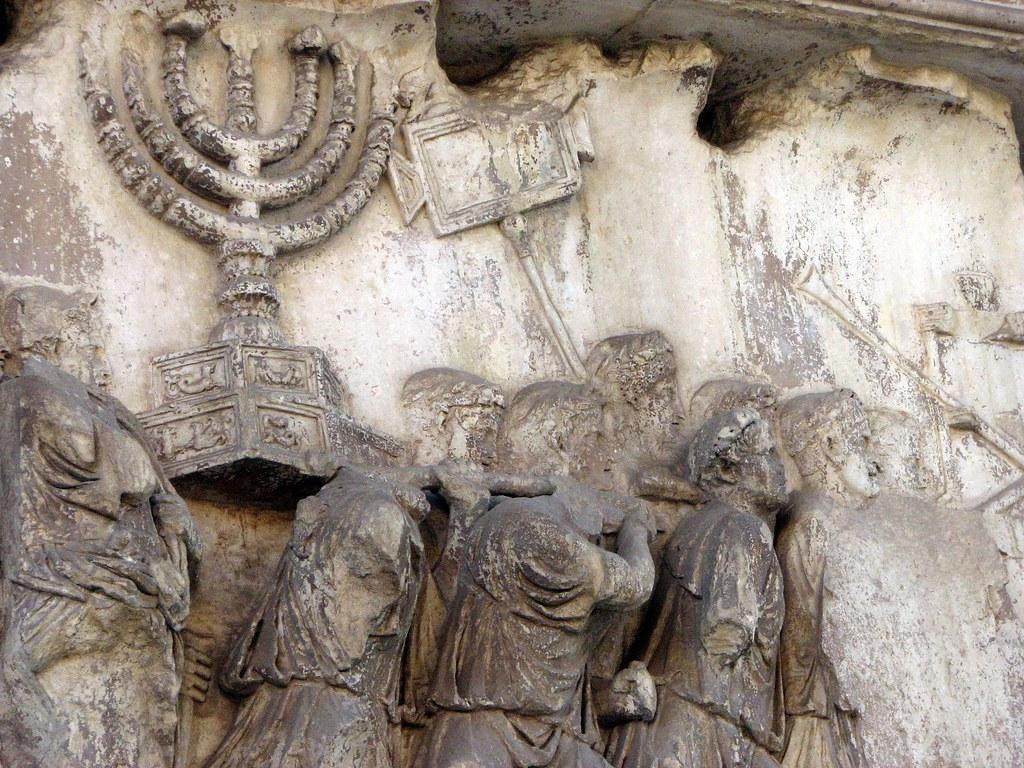 Detail aus der Plünderung des Jerusalemer Tempels durch die Römer