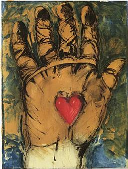 Shellac on a hand, Jim Dine