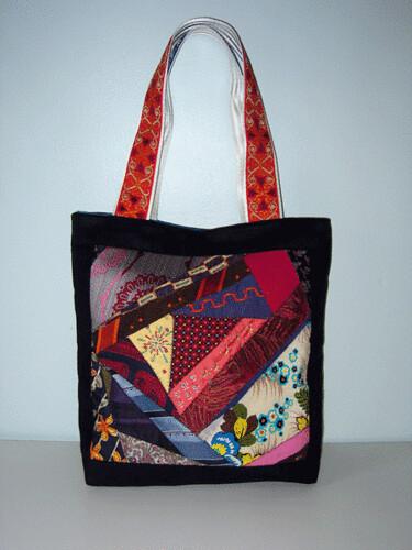 crazy quilt bag - front