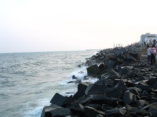 Waves Cutting the Rocks