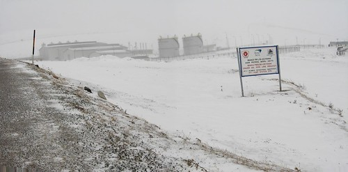 Oil pumping station on BTC Pipeline, 2,200m up Ilgatargi Pass, Turkey
