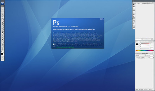 Photoshop CS3 Startscreen