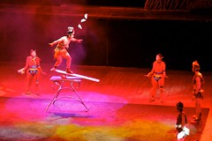 flying bowls (yewenyi) Tags: china trip vacation holiday flying asia performance beijing acrobatics   acrobats bowls plank balancing act  eastasia balancingact bijng macrocosm zhnggu anightattheacrobatics chaoyangtheater