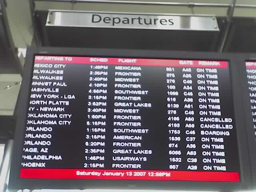 Frontier departures from Denver International Airport today