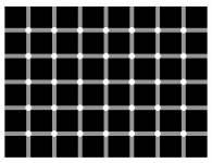 efecto contraste puntos negros