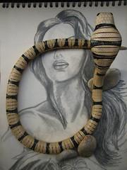 AUGUST 2007 (maximorgana) Tags: fotosencadenadas stone muelle blind drawing snake fake jungle anamisuko