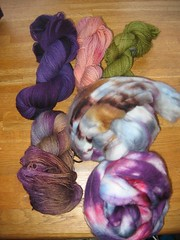 handdeyed yarn/fiber