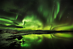 Celestial (LalliSig) Tags: winter cold reflection water landscape iceland nightscape aurora godfather borealis beautifulearth specland abigfave colorphotoaward impressedbeauty thegodfatherfamily fiveflickrfavs