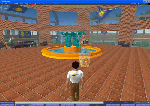 Lotusphere in Second Life - fountain