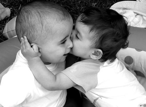 O amor está num beijinho...