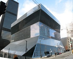 Seattle Public Library (OZinOH) Tags: seattle library explore stitching seattlepubliclibrary washingtonstate publiclibrary tiled aia150 ll100