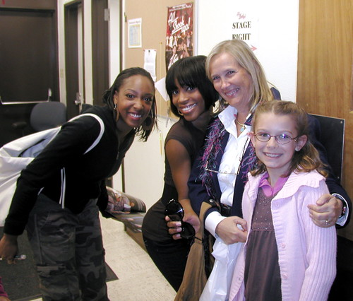 Girls from the cast with Sylvia and Samantha