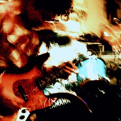 a music scene (GraemeNicol) Tags: china city urban music motion blur rock movement energy asia experimental live gig feel grain band dalian scene desaturation dynamism impressionist iso1600 mathrock avantgarde postrock