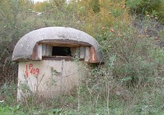 Albania (ribizlifozelek) Tags: road red concrete war explore bunker albania coldwar turrent
