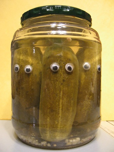 Pickles with eyes.