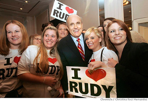 Rudy with supporters at Calif. GOP convention