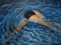 swimmer painting (squeezemonkey) Tags: water painting swimmer tetford beholdsynchronizedswimming
