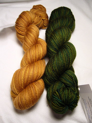 Sundara Yarn - Toffee over Gold and Camo Sock Yarn