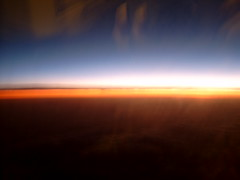 From plane (comm6026) Tags: from sky plane colours view earth background horizon orangesky powerpoint