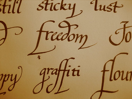 freedom/graffiti calligraphy