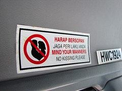 Mind Your Manners (seven years) Tags: sign kissing please no taxi sony islam your mind malaysia kuala h1 lumpur manners