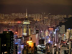 DENSITY (DanielKHC) Tags: city longexposure urban skyline night buildings hongkong bladerunner sony alpha a100 victoriapeak density claustrophobia aplusphoto danielcheong 200750plusfaves travelerphotos danielkhc
