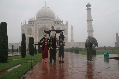 Family at the Taj, not sunny