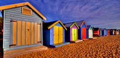 Bathing Boxes on Brighton Beach (markdanielowen) Tags: panorama slr beach digital canon photography eos interestingness sand brighton shadows box mark australia melbourne wideangle explore owen bathing dslr brightonbeach 1022mm digitalslr 30d markowen bathingbox bathingboxes canon30d eos30d canoneos30d colorphotoaward markdanielowen colouredhuts markowenphotography